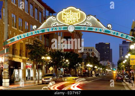 Historischen Gaslamp Quarter, San Diego, Kalifornien USA - Stockfoto