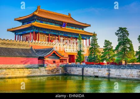 Peking, Verbotene Stadt am Nordtor. - Stockfoto