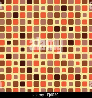 Orange Schatten Kachelhintergrund Mosaik, Vektor-illustration - Stockfoto
