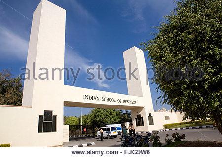 Hyderabad. Hightech-Stadt. Indian School of Business. - Stockfoto