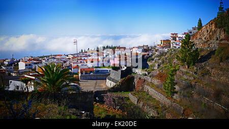 Spanien-Kanarische Inseln Teneriffa Vilaflor Skyline Wolke - Stockfoto