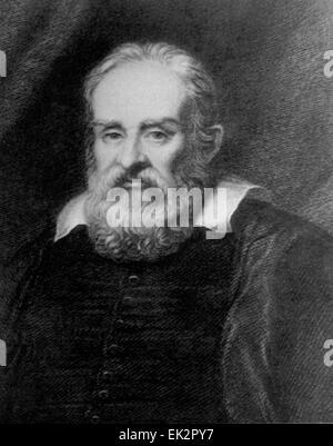 Mechaniker, italienischer Physiker und Astronom Galileo Galilei. - Stockfoto