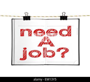 brauche einen job - Stockfoto