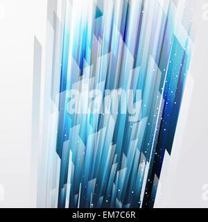 abstraktes Vektor Hintergrund mit gerade blaue Linien - Stockfoto