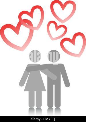 paar in der Liebe - Stockfoto