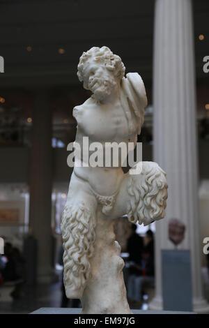 Marmorstatue des Pan. Roman. Kaiserzeit, 1. Jahrhundert n. Chr.. Metropolitan Museum of Art. NY. USA. - Stockfoto