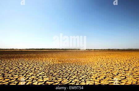 Karge Wüstenland in Nationalpark Sarigua in Panama - Stockfoto
