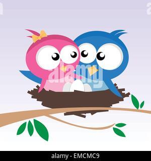 Vögel in der Liebe - Stockfoto