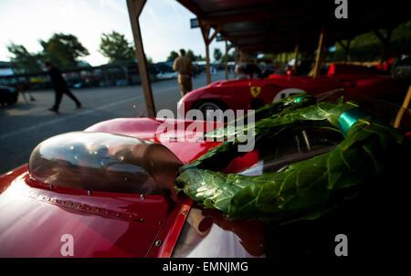 CHICHESTER, ENGLAND - 12.-14. September 2014: Historische Automobil Rennsport Festlichkeiten auf und abseits der - Stockfoto