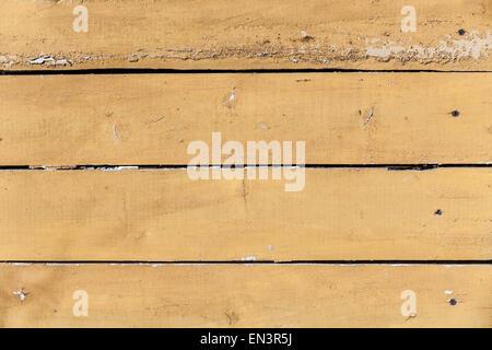 Gelbe alte Holzwand Bretter mit Nägeln, Hintergrundtextur Foto gemacht - Stockfoto