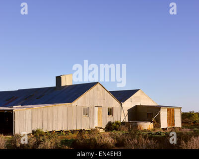 Historische Kinchega Woolshed im Kinchega-Nationalpark auf der Darling River, New South Wales, Australien. - Stockfoto