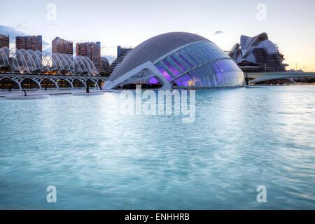 Die Stadt der Künste und Wissenschaften, das Hemisferic, Valencia, Spanien - Stockfoto