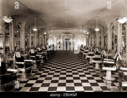 Los Angeles, Kalifornien, USA, c. 1923 - The Biltmore Hotel Friseur. Hotels. - Stockfoto