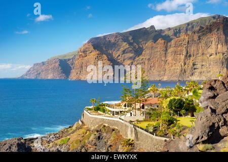 Los Gigantes Klippen, Teneriffa, Kanarische Inseln, Spanien - Stockfoto