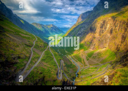 Trollstigen in Norwegen - Stockfoto