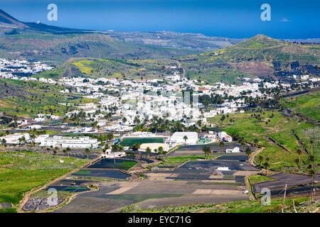 Haria Dorf. Lanzarote, Kanarische Inseln, Spanien, Europa. - Stockfoto