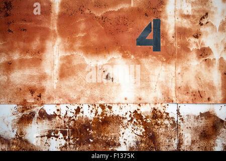Hintergrund der rostige Lager Türen. - Stockfoto