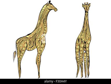zwei Giraffen. - Stockfoto