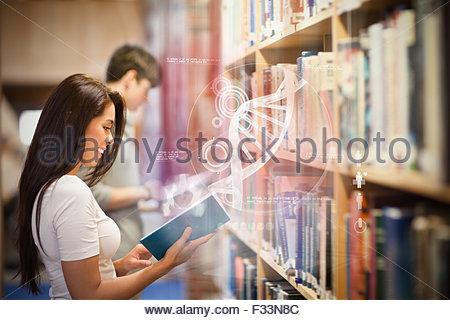 Zusammengesetztes Bild Illustration der dna - Stockfoto