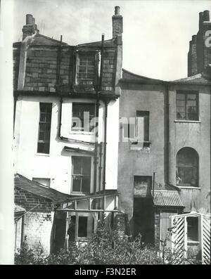 24. Februar 1967 - das Haus wo sie leben: In einem Reihenhaus in Dalston, in der Nähe, wo die britischen Faschisten, - Stockfoto
