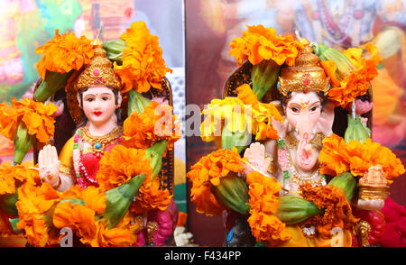 Göttin Lakshmi und Lord Ganesha - Stockfoto
