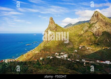 Taganana Dorf, Anaga-Gebirge, Teneriffa, Kanarische Inseln, Spanien, Atlantik, Europa - Stockfoto