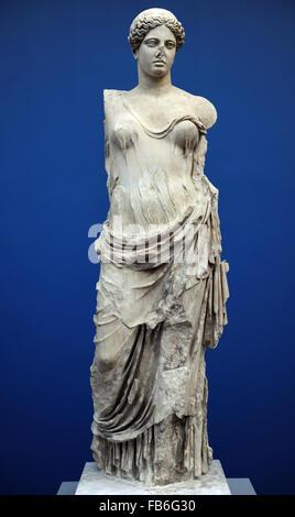 Aphrodite, Hera Borghese genannt. Monte Calvo. 2. Jahrhundert n. Chr. Göttin der Liebe. Römischen Marmor-Kopie einer - Stockfoto