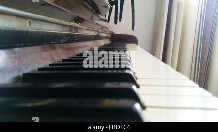 Nahaufnahme des Klaviers - Stockfoto