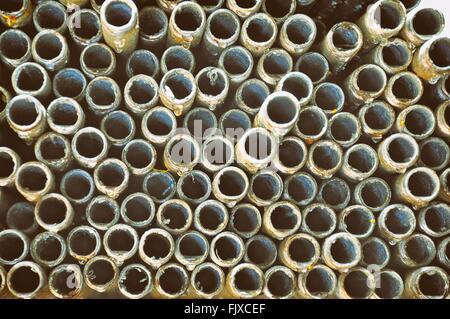 Full-Frame-Schuss von Rohren In der Industrie - Stockfoto