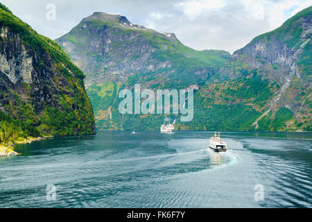Gerainger Fjord, UNESCO World Heritage Site, Norwegen, Skandinavien, Europa - Stockfoto