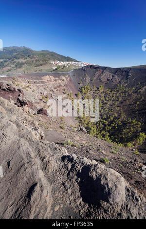 San Antonio Volcano, Monumento Natural de Los Volcanes de Teneguía, hinter Fuencaliente, La Palma, Kanarische Inseln, - Stockfoto