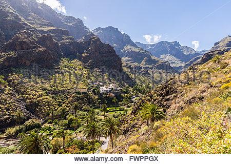 Barranco de Santiago, La Gomera, Spanien - Stockfoto