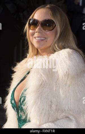 Promi im Corinthia Hotel mit Sichtung: Mariah Carey Where: London, Vereinigtes Königreich bei: 17. März 2016 - Stockfoto