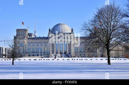 Reichstag, Platz der Republik, Tiergarten, Mitte, Berlin, Deutschland / Plenarbereich Reichstagsgebaude, Plenarbereich - Stockfoto