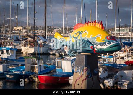 Marina Corralejo Fuerteventura-Kanarische Inseln-Spanien - Stockfoto