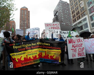 New York, NY, USA - 1. Mai 2016-Mayday Rallye am Union Square in New York City-Credit: Mark Apollo/Alamy Live-Nachrichten - Stockfoto