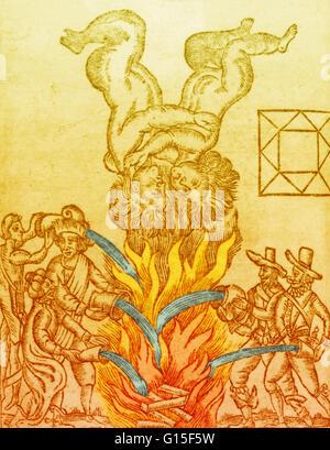 Der große Brand von London 1666. Die Katastrophe aufgetreten Gemini Monat, hier in einem Rückwärtsgang und negativen - Stockfoto