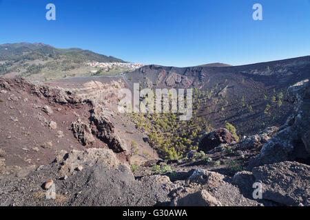 San Antonio Volcano, Monumento Natural de Los Volcanes de Teneguia, Fuencaliente, La Palma, Kanarische Inseln, Spanien, - Stockfoto