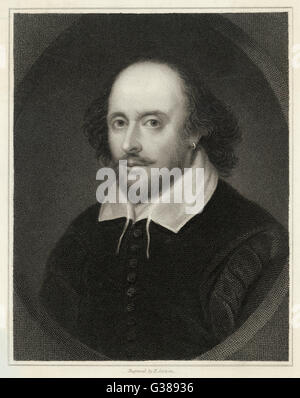 WILLIAM SHAKESPEARE (1564-1616), englischer Dramatiker und Dichter. - Stockfoto