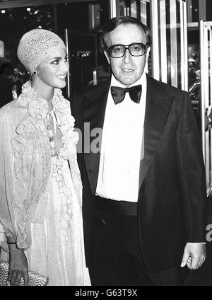 Peter Sellers und seine Frau Lynne Frederick - Stockfoto