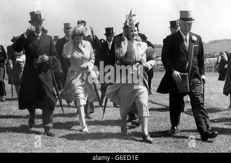 Royalty - Prinzessin-Elisabeth - Epsom Rennen - Stockfoto