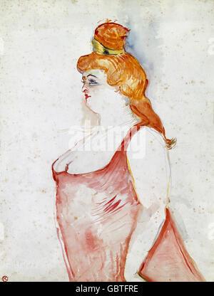 "Bildende Kunst, Toulouse-Lautrec, Henri de (1864-1901), Malerei, ""Cocyte Dans la Belle Helene"" (Cocyte in die schöne - Stockfoto"