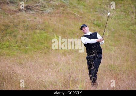 Schottlands Marc Warren spielt aus dem tiefen Rough am Loch Par 4 7. tagsüber drei 2016 AAM Scottish Open in Inverness - Stockfoto