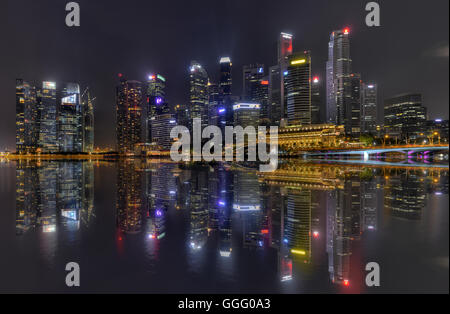 Central Business District Singapur City und Marina Bay Financial Centre - Stockfoto