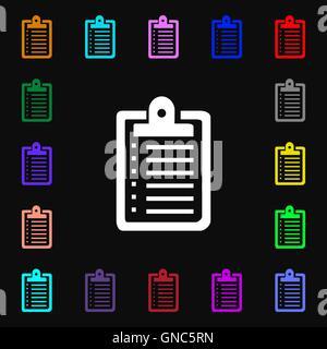 Notebook-Symbol Zeichen. Viele bunte Symbole für Ihr Design. Vektor - Stockfoto