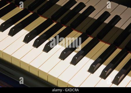 Nahaufnahme von Klaviertasten - Stockfoto