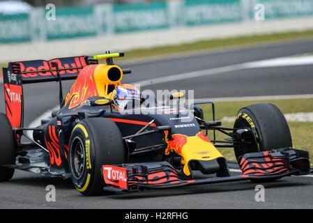 Sepang, Malaysia. 1. Oktober 2016. Red Bull Racing Fahrer Max Verstappen fährt während des Qualifyings der Formel - Stockfoto
