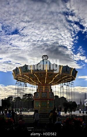 Tivoli Grona Lund (Luna Park) um Sonnenuntergang, Djurgarden, Stockholm, Schweden - Stockfoto