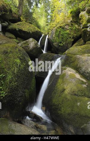 Deutschland, Baden-Württemberg, Schwarzwald, Triberger Wasserfälle, - Stockfoto