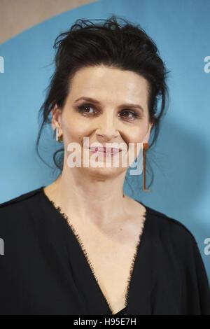 "Madrid, Spanien. 19. November 2016. Juliette Binoche besuchte ""Frauen in Aktion"": für Juliette Binoche Fototermin - Stockfoto"